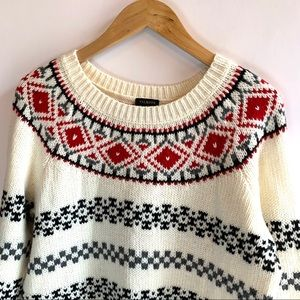 Talbots | Knit Scandinavian Crew Neck Sweater M
